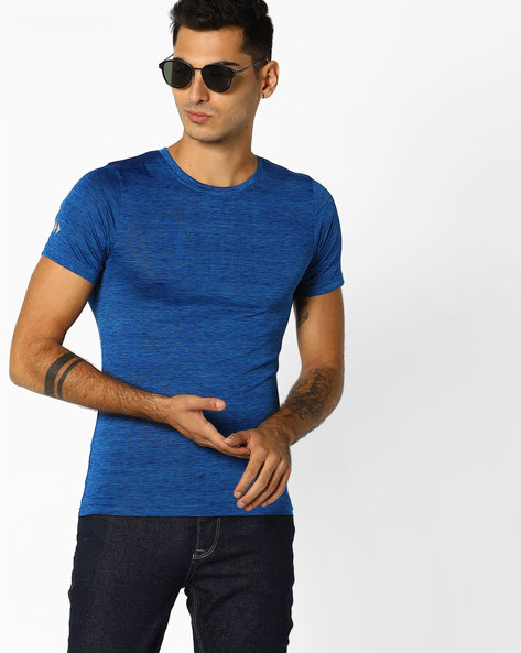Slim Fit Crew-Neck T-shirt By ADAMO LONDON ( Maroon )