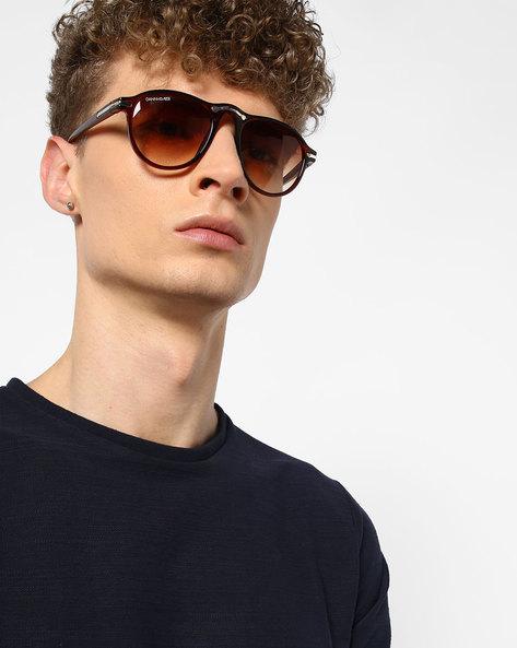 Wayfarer Sunglasses With Gradient Lens By DANNY DAZE ( Brown )