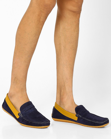 Genuine Leather Tom Loafers By Knotty Derby ( Blue )