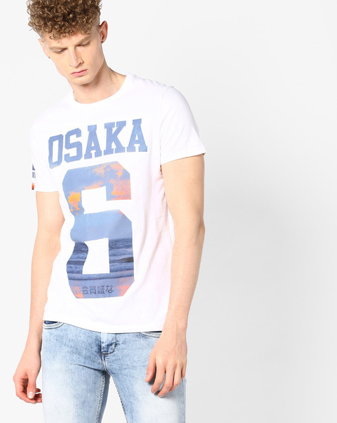 Printed Crew-Neck T-shirt By SUPERDRY ( 01c ) - 410044957002