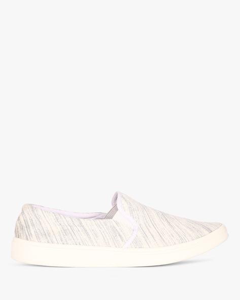 Printed Canvas Slip-On Sneakers By Nuboy ( Grey )