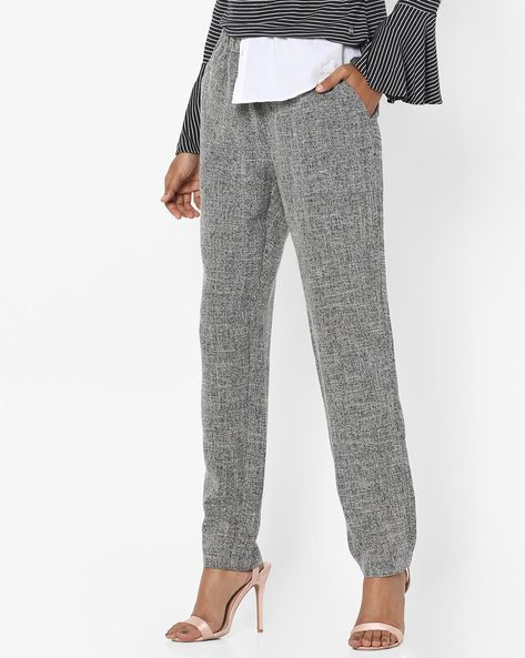 Textured Full-Length Pants With Pockets By Vero Moda ( Black )