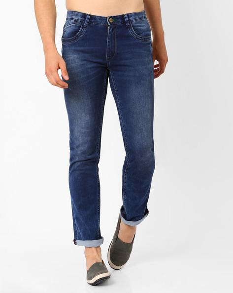 Lucifer Slim Fit Jeans By SIN ( Indigo ) - 460027273002