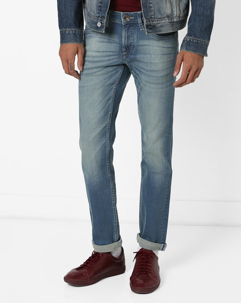 Lightly Washed Jackson Skinny Fit Jeans By FLYING MACHINE ( Blue )