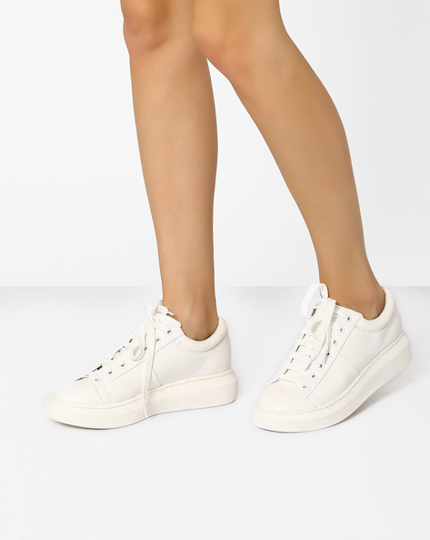 Platform Sneakers With TPR Sole By Tresmode ( White )