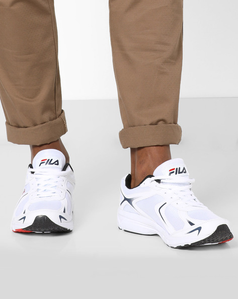 Force Lite Lace-Up Sports Shoes By FILA ( White )