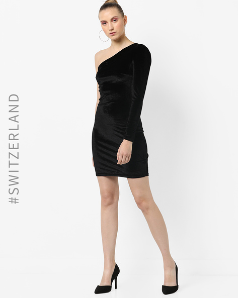 One-Shoulder Bodycon Dress By TALLY WEiJL ( Black )