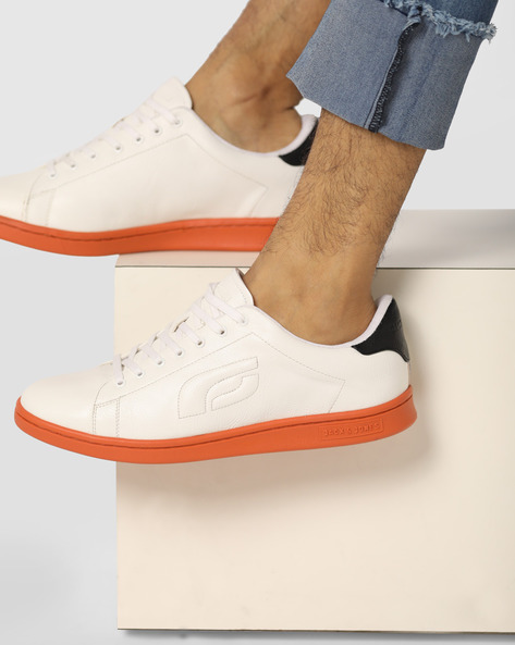 Lethin Panelled Lace-Up Shoes By Jack & Jones ( Orange )