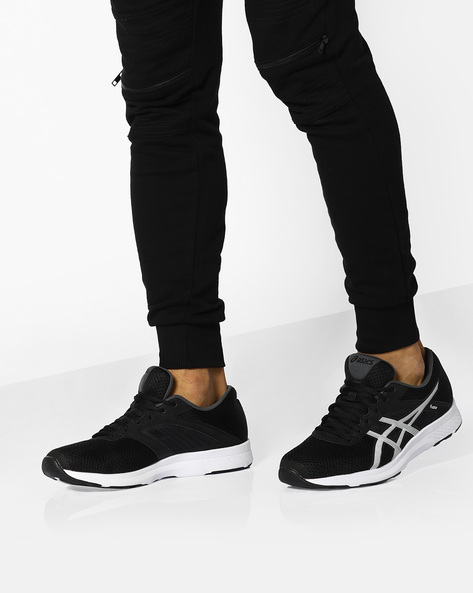 Fuzor Sports Shoes With Lace-Up Fastening By ASICS ( Blkwht )