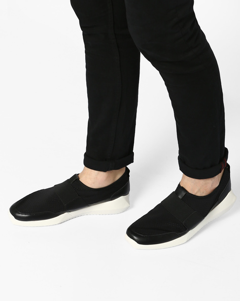 Slip-Ons With Perforations By AJIO ( Black )
