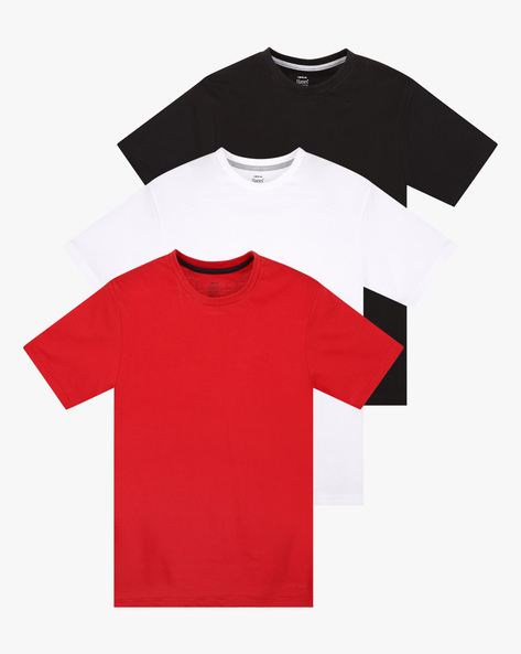 Pack Of 3 Cotton T-shirts By HANES ( Multicolor )