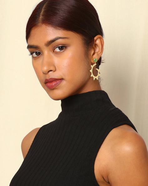Gold-Plated Brass Drop-Earrings By Indie Picks ( Multi ) - 460045147001