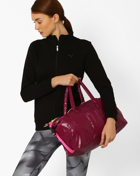 Workout Barrel Bag By Puma ( Magenta )