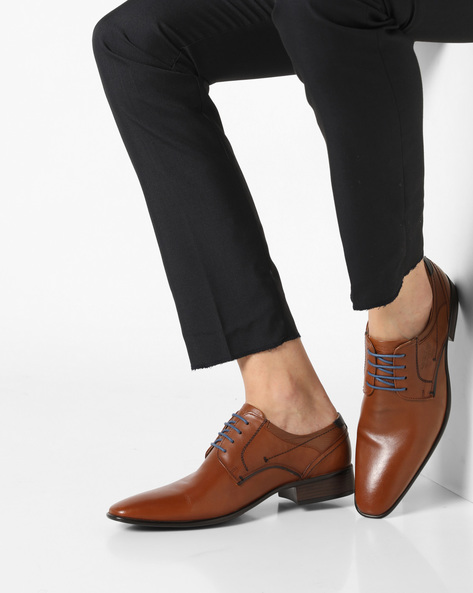 Genuine Leather Lace-Up Formal Shoes By ALBERTO TORRESI ( Blutan )