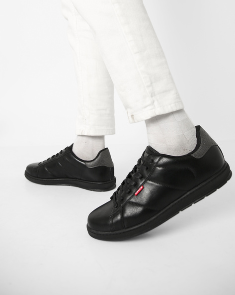 Panelled Lace-Up Shoes By LEVIS ( Black ) - 460186361006
