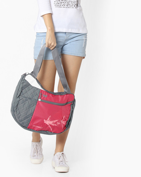 Colourblock Hobo Bag By Wildcraft ( Pink )