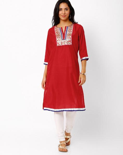 Kurta With Gota Work By Rangriti ( Red )