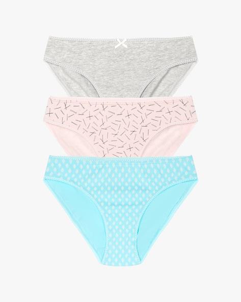 Pack Of 3 Bikini Panties By Strings ( Blue )