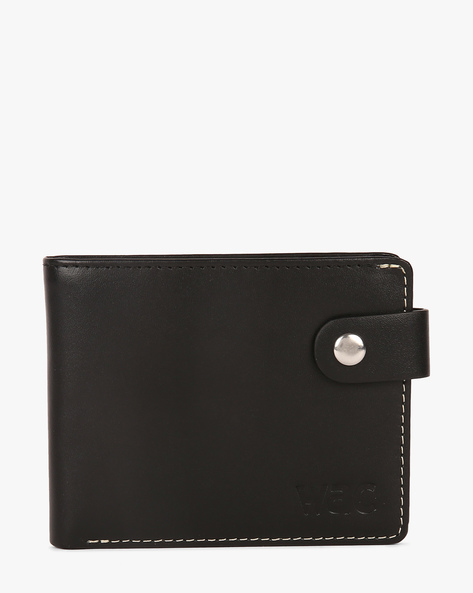 Slim Leather Wallet With Stitch Detail By WRANGLER ( Black )