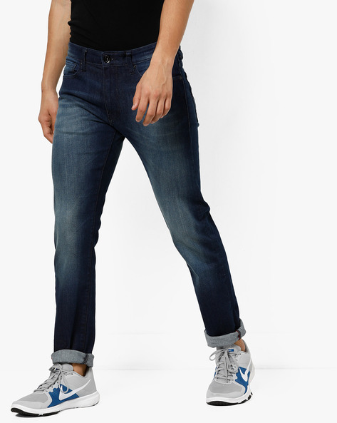 Slim Fit Lightly Washed Jeans By Pepe Jeans ( Indigo )