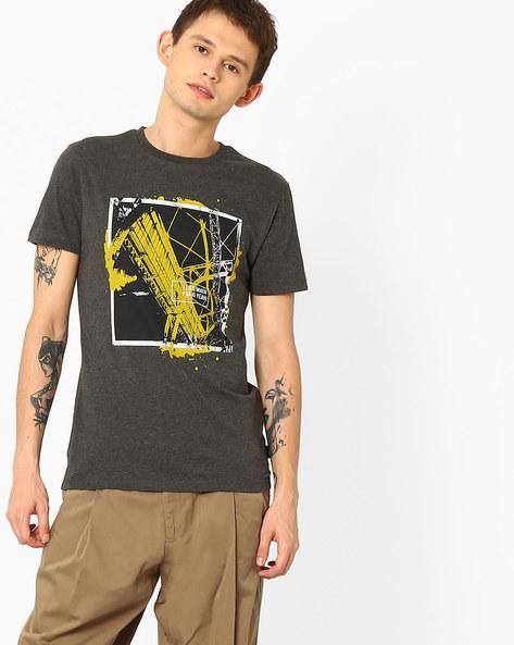 Slim Fit Graphic Print T-shirt By Jack & Jones ( Darkgrey )