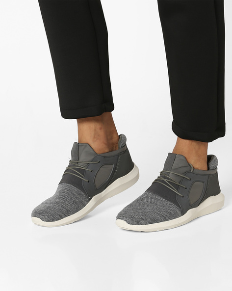 Lace-Up Panelled Shoes By AERO BLUEZ ( Grey )