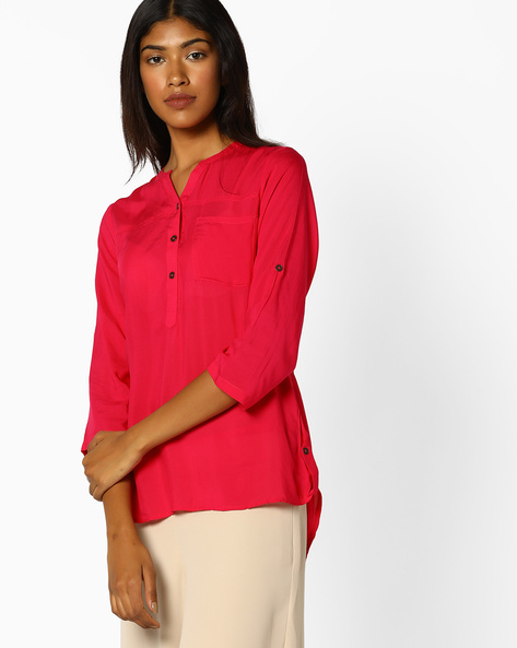 High-Low Top With Roll-Up Tabs By BOSSINI ( Fuschia )