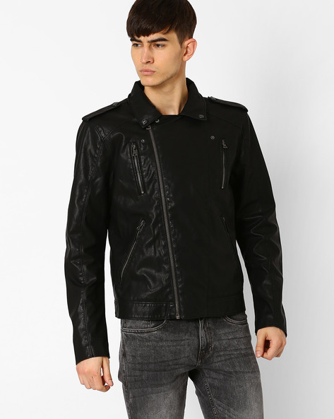 Slim Fit Jacket With Metallic Zippers By GAS ( 0200 )