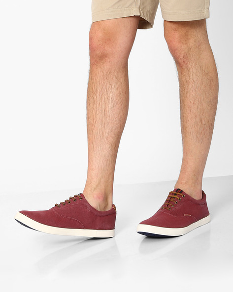 Canvas Lace-Up Shoes By Jack & Jones ( Red )