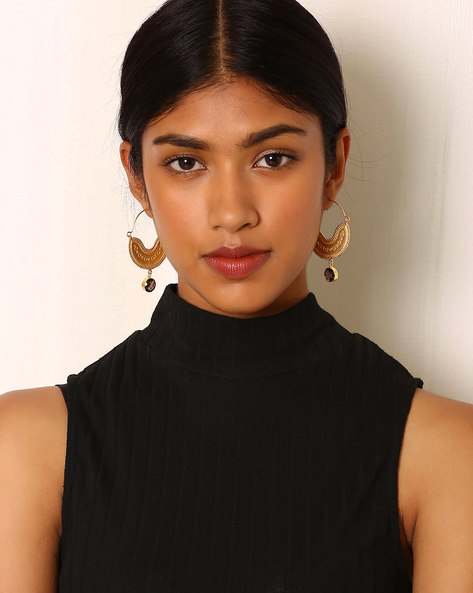 Gold-Plated Brass Hoop Earring By Indie Picks ( Multi )