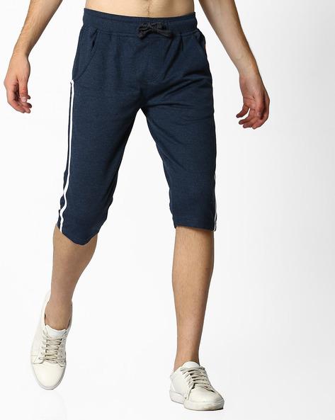 Mid-Rise Shorts With Drawstring Waist By Teamspirit ( Petrol )