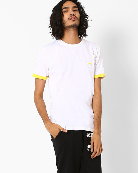 Crew-Neck T-shirt With Embroidered Logo By Garcon ( Multi )