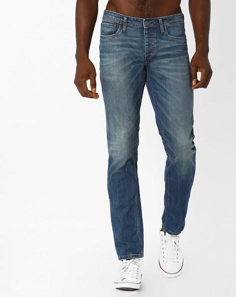 Mid-Rise Comfort Fit Jeans By Jack & Jones ( Blue )