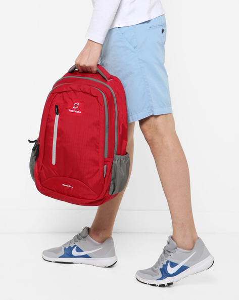 Everyday Backpack With Signature Branding By Murano ( Red )