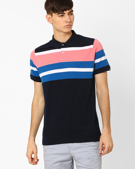 Slim Fit Polo T-shirt By BASICS ( Navy )