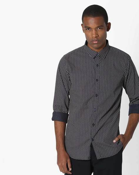 All-Over Print Cotton Shirt By UNITED COLORS OF BENETTON ( Multicolor )