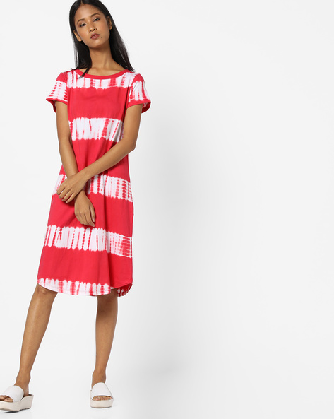 Dyed Nightdress With Curved Hem By Mystere Paris ( Pink )