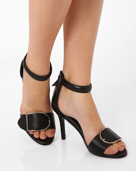 Stilettos With Zip Closure By MFT Couture ( Black )
