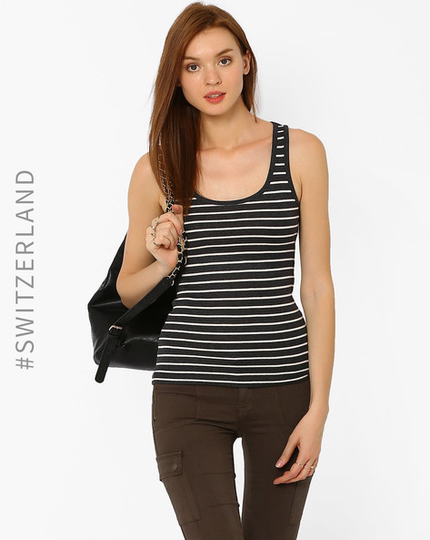 Striped Tank Top By TALLY WEiJL ( Grey ) - 460014555021