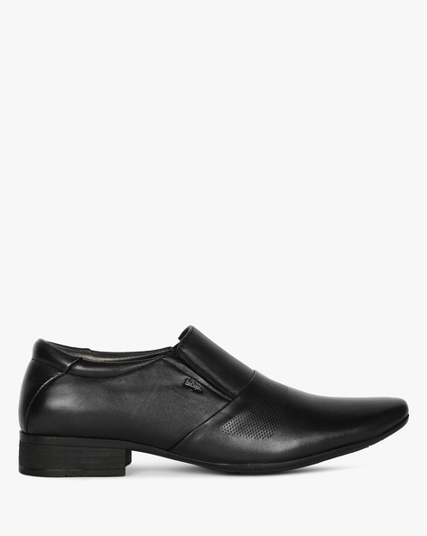 Genuine Leather Formal Slip-On Shoes By Lee Cooper ( Black )