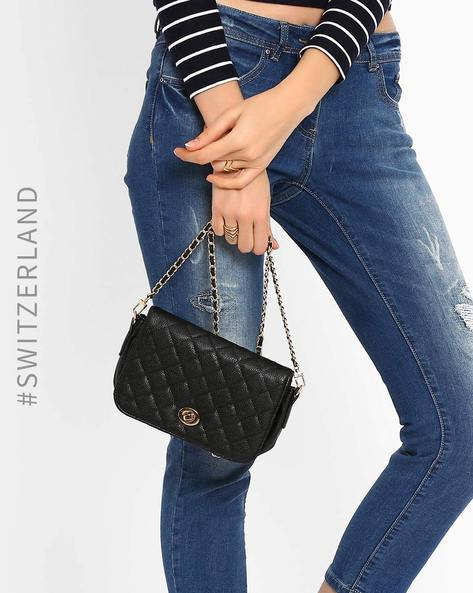 Quilted Sling Bag By TALLY WEiJL ( Black )