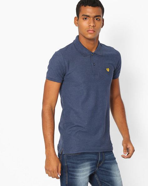 Slim Fit Polo T-shirt By DUKE ( Navy )