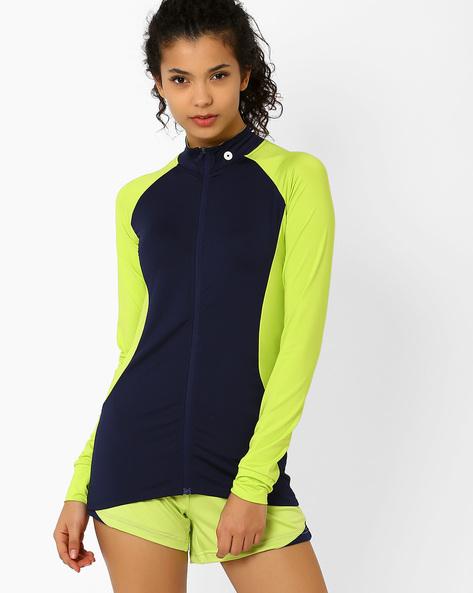 Jacket With Raglan Sleeves By AJIO ( Navyblue )
