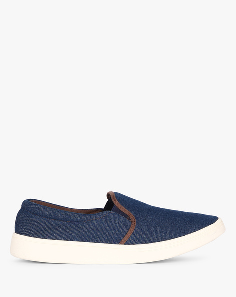 Slip-On Sneakers With Elasticated Gussets By Nuboy ( Denim )
