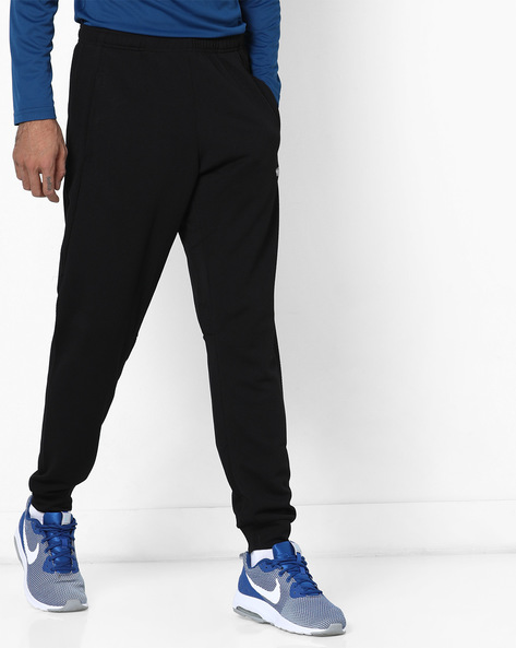 Mid-Rise Joggers With Elasticated Waistband By Wildcraft ( Black )