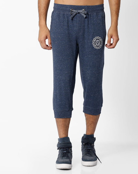 Terry Knit 3/4 Th Shorts With Drawstring Fastening By Teamspirit ( Blue )