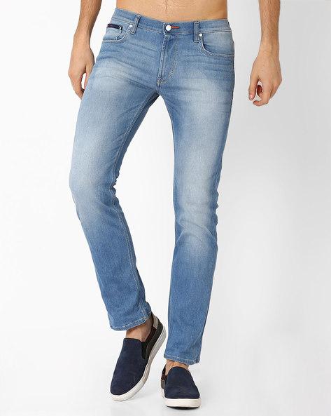 Low-Rise Slim Fit Narrow Jeans By Lee ( Lightblue )