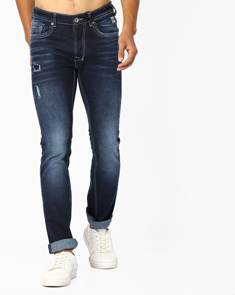 Slim Jeans With Whiskers By Pepe Jeans ( Blue )