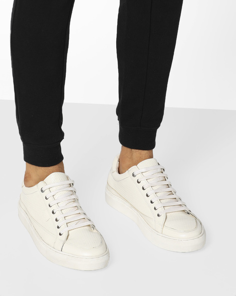 Casual Shoes With Lace-Up Fastening By BUCKAROO ( White )