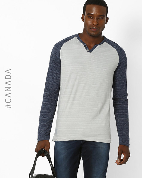 Textured Slim T-shirt With Raglan Sleeves By Point Zero ( Chrome )